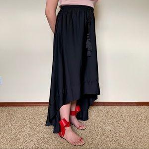 H&M Concious Hi-Low Skirt Black Size L